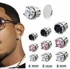 JZ Inspired magnetic stud round cz in 4mm 5mm 6mm  clear black and pink cz