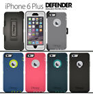 NEW Otterbox Defender Cases for Apple iphone 6 plus (5.5) w / holster belt clip