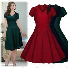 Womens Short Prom Dresses Flared Skater Skirt Summer Cocktail Party Club Dress