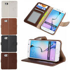 Genuine Real Leather Flip Wallet Stand Case Cover For Samsung Galaxy S6 /S6 Edge