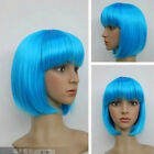 16 colors green pink purple white orange blue yellow red Straight Bob Wig A1024