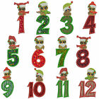 CHRISTMAS OWLS NUMBERS Machine Applique Embroidery Patterns 12 Designs 3 sizes