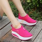 Stylish Cute Comfort Womens breathable wedge heel platform walking Shoes Slip on