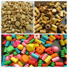 500g Wooden Beads, Mixed Shapes + Colours, in Hemu Wood, for Schools, Crafts