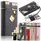 "Zip Leather Wallet Flip Card Case for iPhone 6 Plus 4.7"" 5 5S Samsung Note 4 S6"