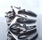 925 STERLING SILVER TRIBAL SKULL BIKER CHOPPER RING US SZ 7 TO 15