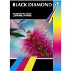 BLACK DIAMOND PREMIUM GLOSS / GLOSSY COATED A4 PHOTO PAPER 150GSM 20 SHEETS