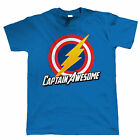 Captain Awesome Mens Funny Super Hero T Shirt, Gift For Dad Him