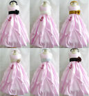 Adorable Light pink white ivory gold black taffeta flower girl dress all sizes
