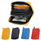 Men women's Real Leather Clutch Wallet Coin Zipper Credit Card Holder Case Purse