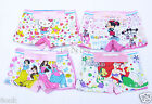 6PCS Cartoon Cotton Boxer Briefs Underwear Underpants for Girls Kids Size: 2T-9T