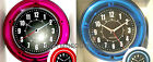 Neon Wall Clock, Sterling & Noble Modern Home, Choice Blue or Pink 11- NEW