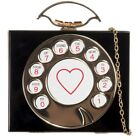 Beautiful Glossy Hard Case Clutch Bag Rotary Phone Digits Heart Creative Party