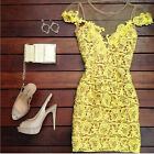 Fashion Sexy Women's Lace Summer Party Evening Cocktail Mini Lace Clubwear Dress