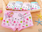 5PCS Cute KITTY Modal Boxer Briefs Underwear Boyshorts for Girls Kids Age: 4-10