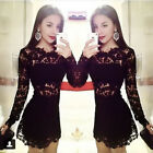 2015 Summer Sexy Lace Dress Short Mini Women O-neck Hot-selling
