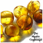 ☆ 1 Pc 6mm-8mm GENUINE BALTIC AMBER POLISHED ROUND DRILLED LOOSE BEADS GEMSTONES