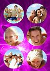 Personalised Photos, Round Frame Effect Theme A3 Photo Poster, Various Colours