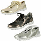 Ladies Black/Silver Lace Up Spot On Trainers UK Sizes 3 - 8 F80102