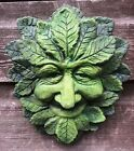 Wise green man decorative wall plaque stone home or garden ornament pagan 19cmH