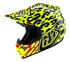 New 2016 Troy Lee Designs Air SKULLY YELLOW Helmet Motocross Enduro S M L XL