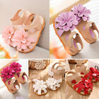 Pretty Kids Sandals Princess Flowers Soft PU Leather Summer Shoes for Girls CAHF