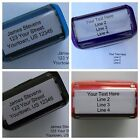 Внешний вид - Personalized Custom 4 LINE RETURN ADDRESS Self Inking Rubber Stamp - Customized
