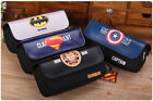 Super Hero Pencil Pen Case Cosmetic Pouch Pocket Brush Holder Travel Makeup Bag