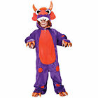 Childrens Purple Monster With Orange Spots Fancy Dress Role Play Costume New