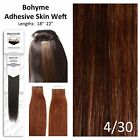 Bohyme Tape-In Skin Weft 100% Remi Human Hair Extensions Color 4/30