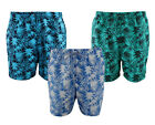 CARGO BAY Mens Palm Print Tropical Polyester Swim/Board Shorts Beach