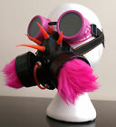 Cyber Goth Gas Mask & Goggle Kit . Industrial EBM Aggrotech Futuristic Pink Blue