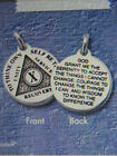 RECOVERY MINI MEDALLION - STERLING SILVER PENDANT - SOBRIETY -