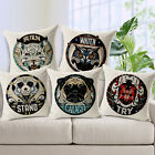 "Animal Logo 18""x45cm Decor Cotton Linen Cushion cover Pillowcase"