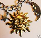 HAPPY SUN AND MOON SILVER AND GOLD TONE BRACELET