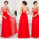 SUMMER CHEAP Long Chiffon Maxi Beaded Cocktail Party Bridesmaid Evening Dresses