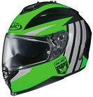 HJC IS-17 GRAPPLE HELMET MOTORCYCLE STREET RIDING WITH SUN SHIELD GREEN DOT 2015