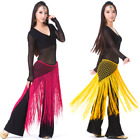 Belly Dance Costume Crochet Long Fringe Triangle Hip Scarf 13 Colors