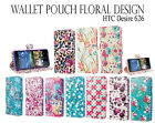 For HTC Desire 626 626S Wallet Leather Case Cover Premium Floral Design