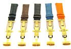 22MM LEATHER BAND WATCH STRAP DEPLOYMENT CLASP FOR INVICTA 1774 WATCH GOLD image