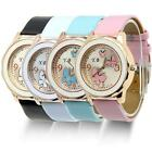 Fashion Butterfly Leather Bracelet Silver Dial Lady Women Girl Wrist Watch MSYG