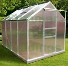 POLYCARBONATE GREENHOUSE - GREY, CLIP FREE GLAZING, FREE BASE, FREE BASE ANCHORS