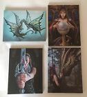 NEW DRAGON CANVAS WALL ART PICTURES DESIGNED BY ANNE STOKES, PLAQUE