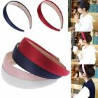 Ladies Women's Girls Simple Solid Wide Head Hair Band Headband Plastic Elastic