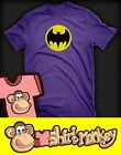 Batman 1980's Logo T-shirt - Ladies and Gents Many Colours.
