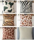 Animal Pattern Throw Cushion Cover Linen Pillow Case Home Car Sofa Decoration