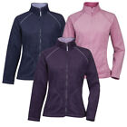 METZUYAN New Womens Ladies Fleece Jacket Plain Zip Up Winter Coat Funnel Neck
