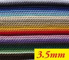 Twisted Cord Braid 3 Ply Twist Soutache  3,5 mm wide  - choice of meters (F)