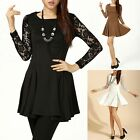 Fabulous Lace Floral Long Sleeves Party Evening Dress