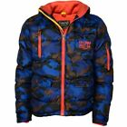 Earthbound Denim Winterjacke Camouflage Blau(110116)